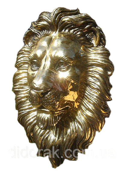 Голова льва золото