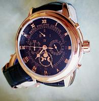 Часы механические Patek Philippe Sky Moon Tourbillon Gold черные. Качество!
