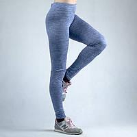 Голубые женские спортивные трикотажные штаны
