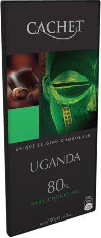 """Бельгийский шоколад Cachet Uganda 80% """"Черный Шоколад"""""""