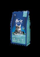 Brit Premium Sensitive корм для кошек с чувствительным пищеварением, 8 кг, фото 1