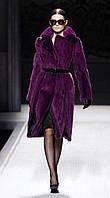 Шикарная норковая шуба вельвет KOPENHAGEN FUR цвет Фиолет , фото 1