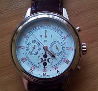 Часы механические Patek Philippe Sky Moon Tourbillon Gold белые. Качество!