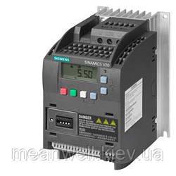 6SL3210-5BE13-7UV0 Частотный преобразователь SIEMENS Sinamics V20, 0,37 кВт