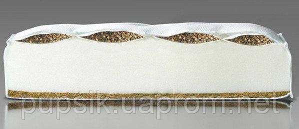 Матрас в кроватку Qvatro Lux гречка/поролон/кокос 5 см
