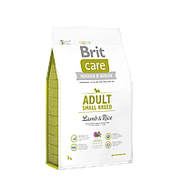 Brit Care Adult Small Breed Lamb & Rice корм для собак мелких пород, 1 кг