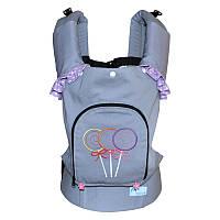 Эргономичный рюкзак Карамелька, с бантиком и рюшами