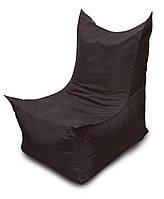 Черное бескаркасное кресло трон из Оксфорда, фото 1