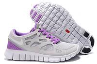 Кроссовки Nike Free Run 2.0 Gray Violet Серые женские