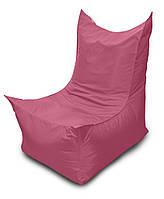 Розовое бескаркасное кресло трон из Оксфорда