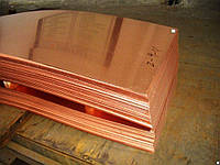 Медная плита М2, 30х600х1500 М1 М2 мяг. тв