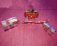 Люстра потолочная на 2 лампочки  P3 - 537 IH/2 (FG+CL)