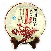 Чай Пуэр Шу Шесть больших гор чая 2001 года прессованный 357г