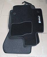 Коврики в салон текстильные Volkswagen Golf 7 2013- материал Ciak черн. гель вышивка (5шт/комп)