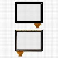 "Сенсорный экран для планшетов China-Tablet PC 9,7""; Cube U9GT4; IconBIT NetTAB Space 3; DNS AirTab M975W; Q-Pad RC9724C, 54 pin, емкостный, черный,"