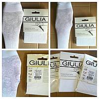 Нарядные белые гольфы для девочек с ажурным цветочным рисунком ТМ Giulia