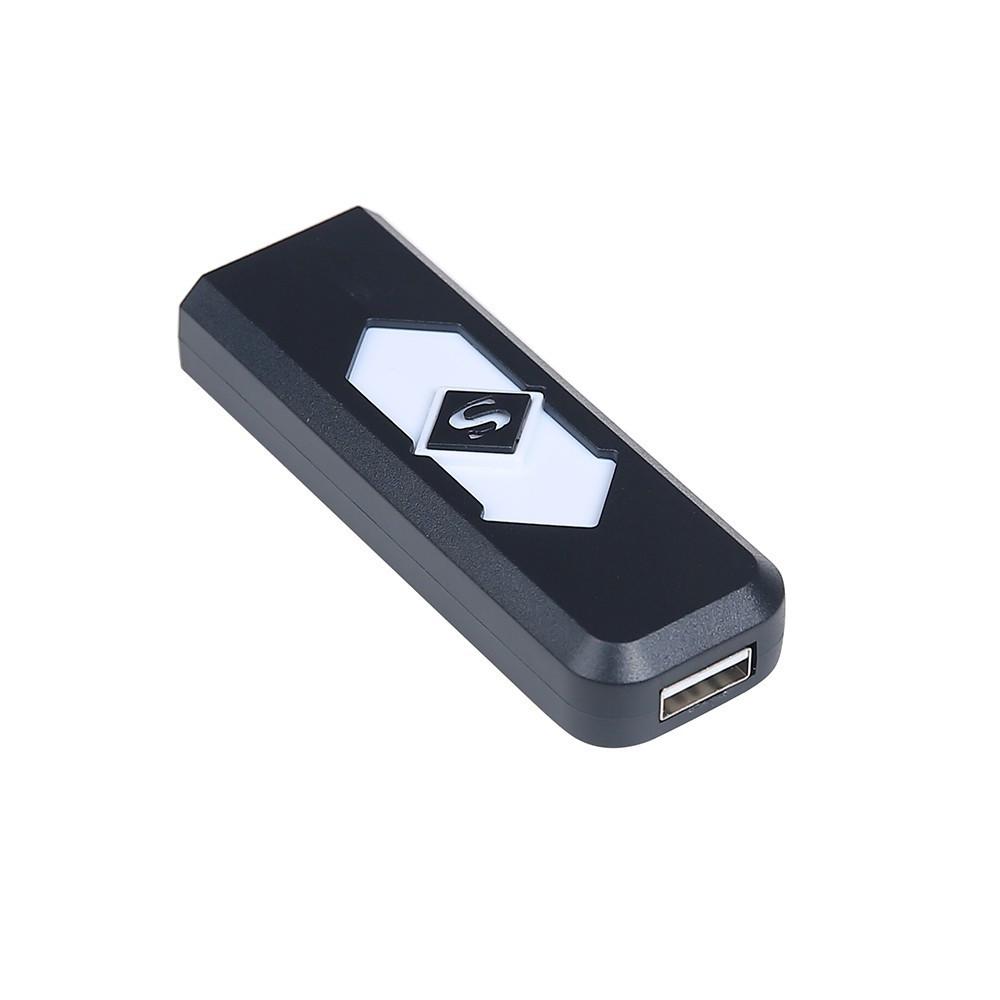 Электронная USB зажигалка, електронна запальничка Черный цвет