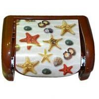 """Держатель для туалетной бумаги с рисунком Морские звезды """"ELIF"""""""