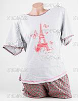 Женский комплект футболка+капри Турция. MORAL 01-18. Размер 56-58.