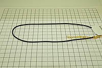 531 Дешевый шнурок канатик из каучука с позолоченной застежкой для кулона или подвески.