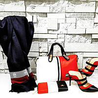 НаборTommy Hilfiger сумка, туфли, кошелек  цвет: белый, красный
