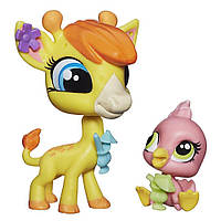 Зверюшка и её малыш Pierre de Long и Siesta Perez Littlest Pet Shop Hasbro