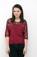 Блуза бордового цвета  большие размеры