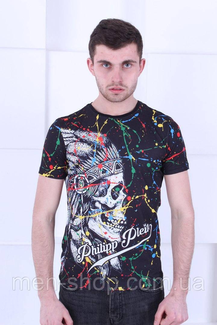 Стильная летняя футболка в стиле  Philipp Plein