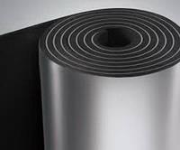 Каучуковая изоляция в рулонах, толщина 6мм, KAIFLEX, с алюминиевой фольгой.