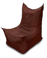 Коричневое бескаркасное кресло трон из Оксфорда, фото 1