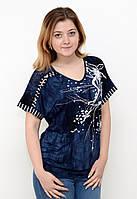 Женская блуза батал с красивым принтом