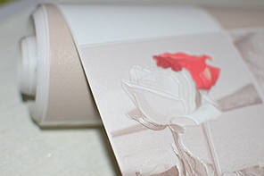 Обои, на стену, яркий рисунок, розы, бежевый, виниловые,В49,4 Алмаз 5507-01,супер мойка, 0,53*10м, фото 3
