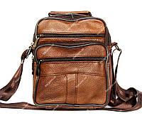Мужская сумка коричневого цвета из натуральной кожи (8015 ск)
