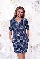 Летнее джинсовое платье-рубашка Калифорния 23 Arizzo 44-46 размер