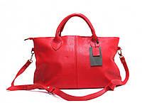 Женская кожаная сумка 23 KF Красная