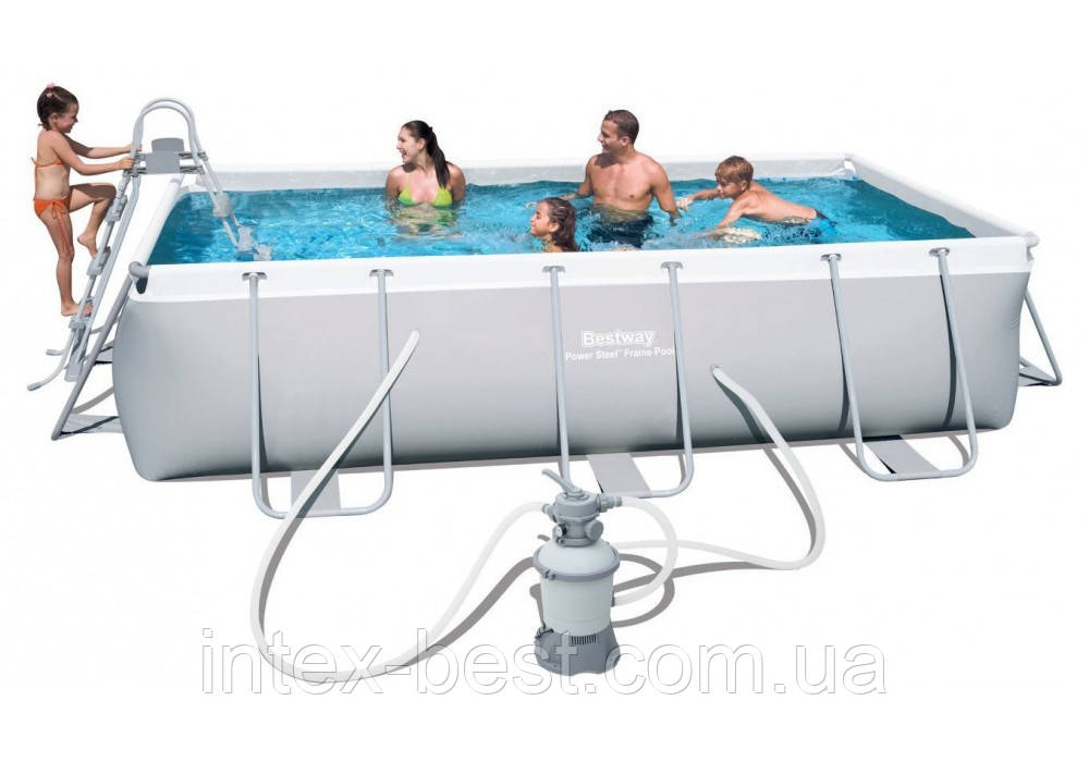 Каркасный бассейн Bestway 56442 с песочным фильтром (404 x 201 x 100 см.)
