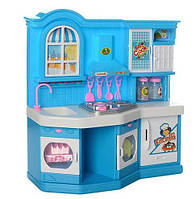Игрушечная мебель для куклы барби с кухней (посуда, стол, стулья, продукты) 381-3