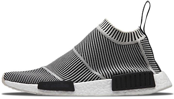 7812c1045 Мужские кроссовки Adidas NMD City Sock Black/White - Интернет-магазин обуви  и одежды