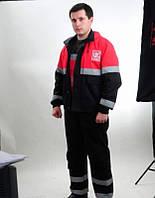 Рабочий утепленный костюм со светоотражайкой