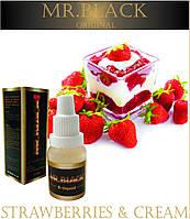 Жидкость для электронных сигарет Mr.Black Клубника со сливками 18 мг/мл (High) - 15 мл