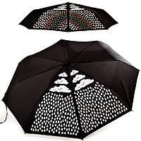 """Складной зонт FARE Зонт женский механический компактный облегченный  FARE (ФАРЕ) с эффектом """"хамелеон"""" FARE5042C-black"""