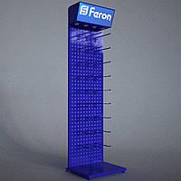 Стойка торговая с перфорации ФЕРОН с крючками