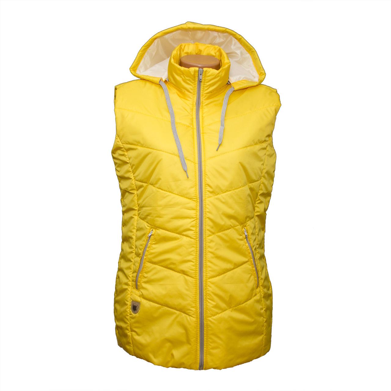 Женская желтая жилетка от производителя без ростовок D124