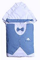 """Стильный демисезонный конверт-одеяло для выписки и прогулок """"Джентельмен"""""""