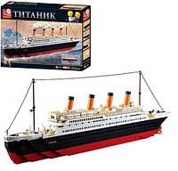 Конструктор SLUBAN M38-B0577 Titanic, 651-280мм, фигурки, 1012дет, в кор-ке, 64-48-9см