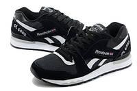 Кроссовки Reebok GL 6000 Black White Черные мужские