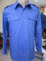 Рубашка мужская форменная голубая