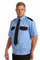Рубашка с коротким рукавом комбинированная, форменная
