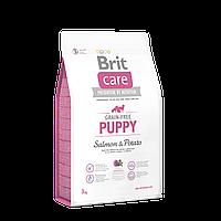 Brit Care Grain-free Puppy Salmon & Potato беззерновой корм для щенков всех пород, 3 кг
