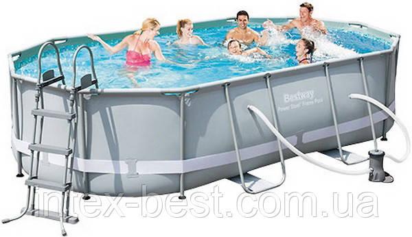 Каркасный бассейн BestWay 56448 (488 х 305 х 107 см.)